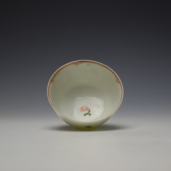 Liverpool Philip Christian Rose and Floral Sprays Pattern Teabowl and saucer c1770-75 (6)