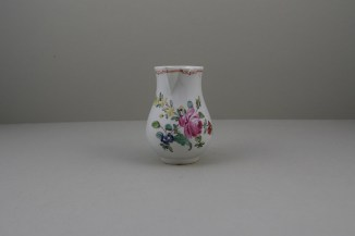 Liverpool Porcelain Christian's Rose Pattern Sparrow Beak Jug C1770 (2)