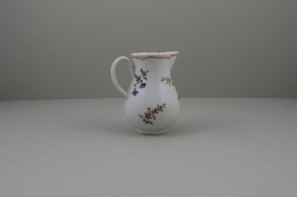 Liverpool Porcelain Christian's Rose Pattern Sparrow Beak Jug C1770 (4)