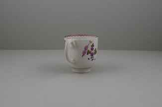 Lowestoft Porcelain Pink and Purple Flowers Tulip Painter Coffee Cup, C1770-75 (5)