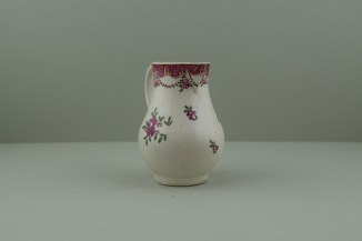 Liverpool Polychrome flower sprays pattern sparrow beak jug. c