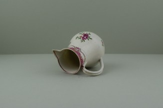 Liverpool Polychrome flower sprays pattern sparrow beak jug. h