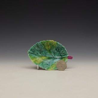 Bow Porcelain Polychrome Pickle Leaf c1760-65 (2)