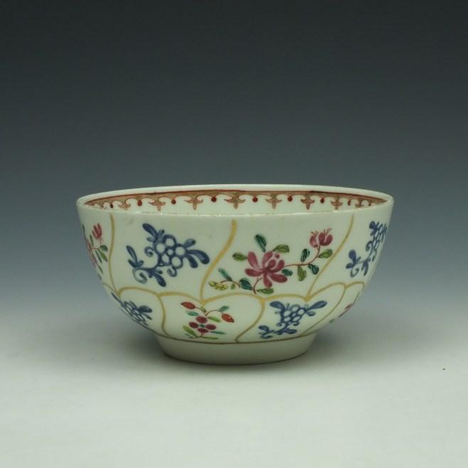 Worcester Queens Floral Pattern Sugar Bowl c1770 (1)