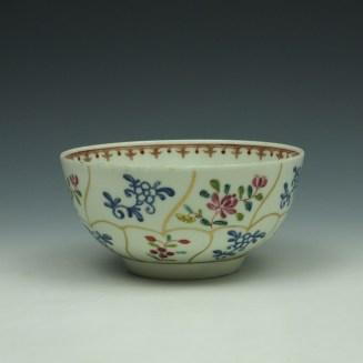 Worcester Queens Floral Pattern Sugar Bowl c1770 (5)