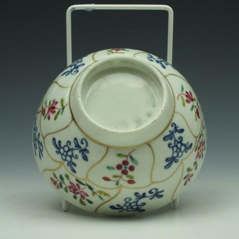 Worcester Queens Floral Pattern Sugar Bowl c1770 (8)