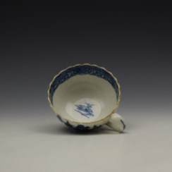 Worcester The Caughley Temple Pattern Teacup and Saucer c1780-90 (7)