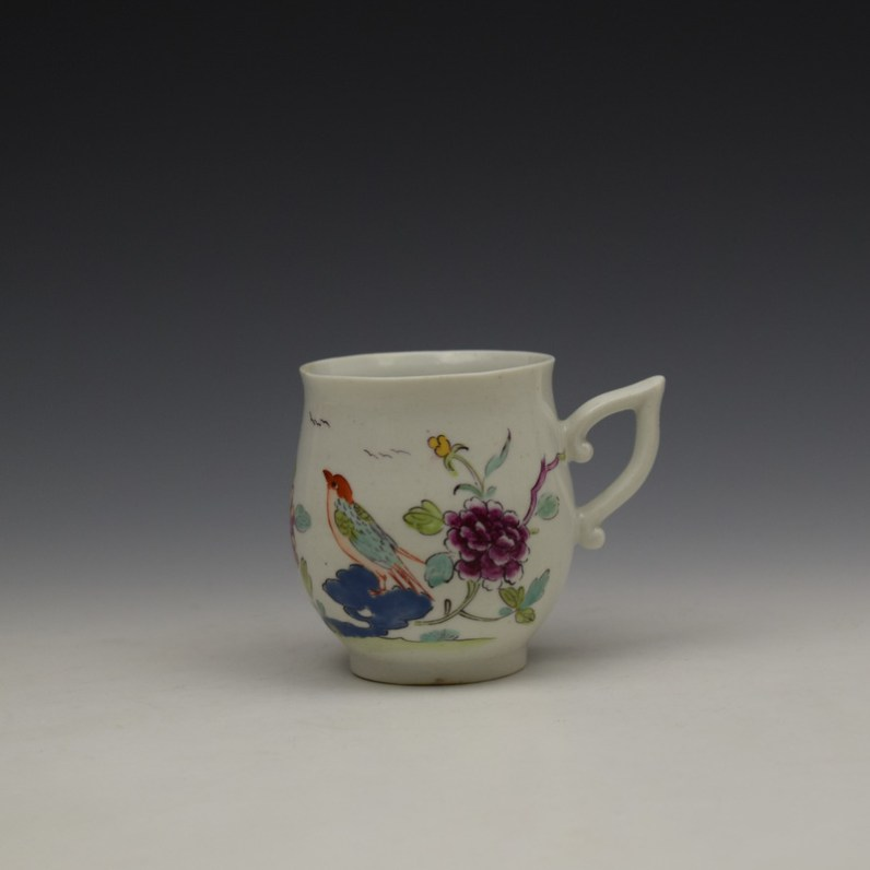 Derby Bird Peony and Rock Pattern Coffee Cup c1757-60 (1)