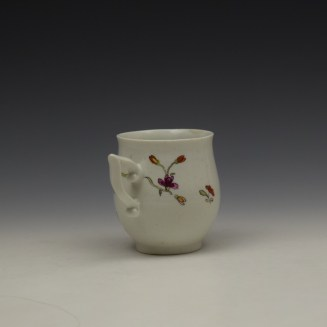 Derby Bird Peony and Rock Pattern Coffee Cup c1757-60 (5)