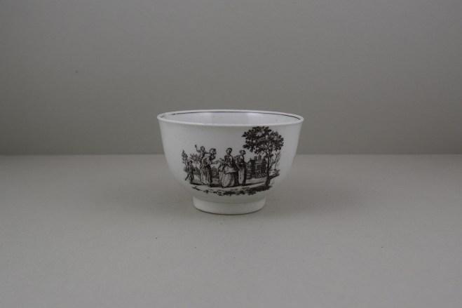 Worcester Porcelain Rare Fortune Teller Pattern Sucier base, C1765-70 (1)