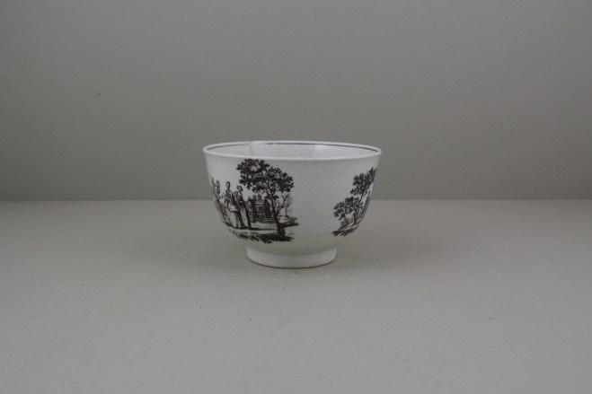 Worcester Porcelain Rare Fortune Teller Pattern Sucier base, C1765-70 (6)