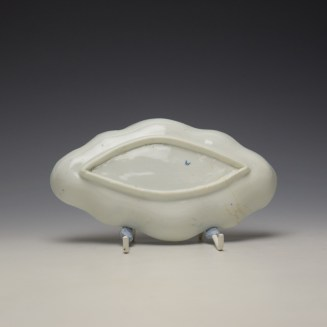 Worcester Moulded Spoon Tray c1760-65 (2)