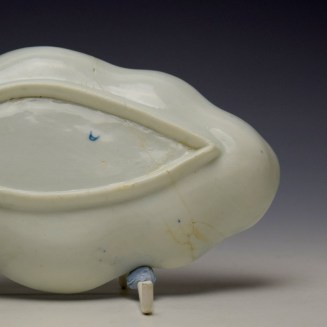 Worcester Moulded Spoon Tray c1760-65 (3)