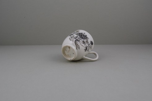 Worcester Pencilled Coffee Cup, C1765 (8)