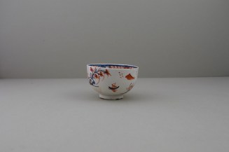 Lowestoft Dolls House Fern Pattern Teabowl and Saucer, C1775-85 (4)