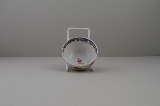Lowestoft Dolls House Fern Pattern Teabowl and Saucer, C1775-85 (8)
