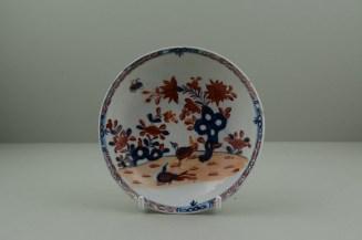 Lowestoft Porcelain Redgrave Two Bird Pattern Teabowl and Saucer, C1770-85. 8