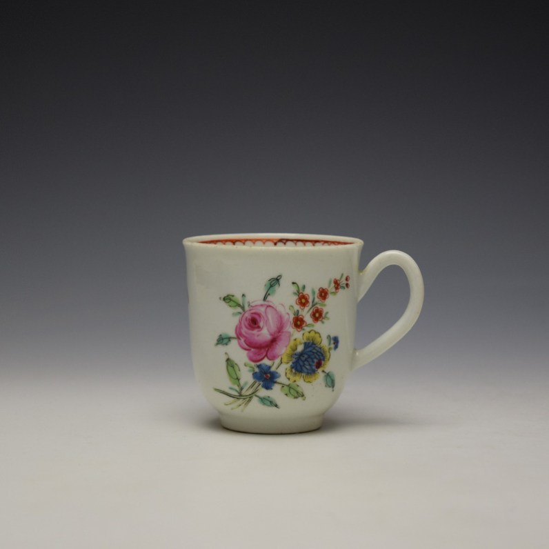 Liverpool Richard Chaffers Floral Pattern Coffee Cup c1760-64 (1)