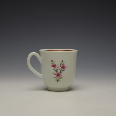 Liverpool Richard Chaffers Floral Pattern Coffee Cup c1760-64 (3)