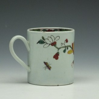 Liverpool Richard Chaffers Flowering Vine and Butterfly Pattern Coffee Can c1760 (3)
