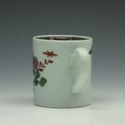 Liverpool Richard Chaffers Flowering Vine and Butterfly Pattern Coffee Can c1760 (4)