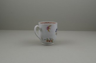 Liverpool Porcelain Richard Chaffers Rose, Flowers and Moth Pattern Coffee Cup, C1760 (4)