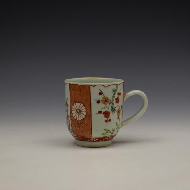Liverpool Richard Chaffers Scarlett Japan Pattern Coffee Cup c1758-60 (1)