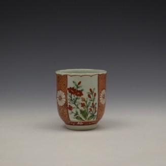 Liverpool Richard Chaffers Scarlett Japan Pattern Coffee Cup c1758-60 (2)