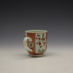 Liverpool Richard Chaffers Scarlett Japan Pattern Coffee Cup c1758-60 (4)