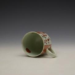 Liverpool Richard Chaffers Scarlett Japan Pattern Coffee Cup c1758-60 (6)
