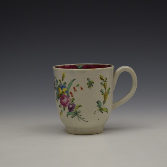 Liverpool Seth Pennington Floral Pattern Coffee Cup c1785 (1)