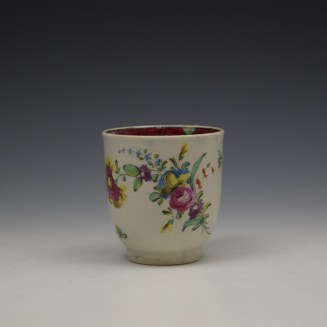 Liverpool Seth Pennington Floral Pattern Coffee Cup c1785 (2)
