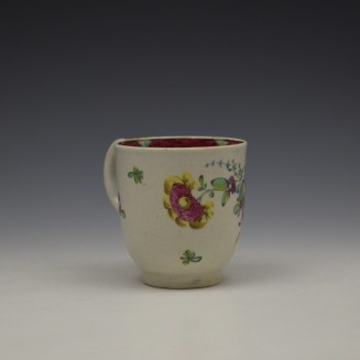 Liverpool Seth Pennington Floral Pattern Coffee Cup c1785 (3)