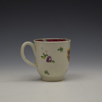 Liverpool Seth Pennington Floral Pattern Coffee Cup c1785 (4)