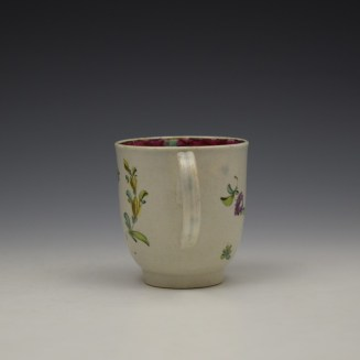 Liverpool Seth Pennington Floral Pattern Coffee Cup c1785 (5)