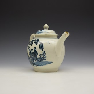Liverpool Seth Pennington Lady and Servant Pattern Teapot and Cover c1790 (3)