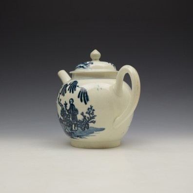 Liverpool Seth Pennington Lady and Servant Pattern Teapot and Cover c1790 (6)