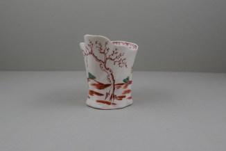 Liverpool Porcelain Seth Pennington Mandarin Pattern High Chelsea Ewer, C1790 (2)