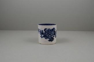 Liverpool Porcelain Seth Pennington Peony Pattern Coffee Can, C1790 (2)