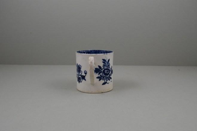 Liverpool Porcelain Seth Pennington Peony Pattern Coffee Can, C1790 (6)