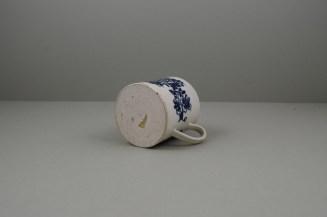 Liverpool Porcelain Seth Pennington Peony Pattern Coffee Can, C1790 (8)