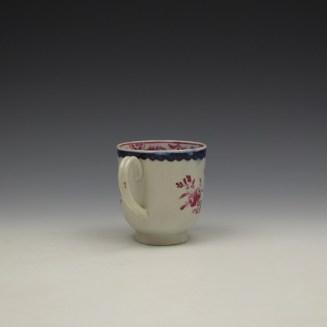 Liverpool Seth Pennington Puce Monochrome Floral Pattern Coffee Cup c1785 (5)