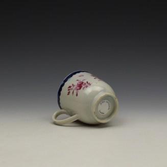 Liverpool Seth Pennington Puce Monochrome Floral Pattern Coffee Cup c1785 (9)