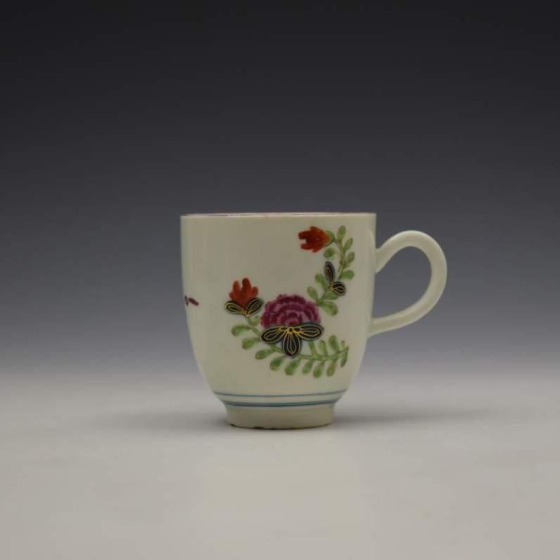 Worcester Starburst Pattern Coffee Cup c1770-80 (1)