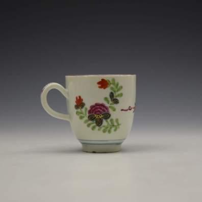 Worcester Starburst Pattern Coffee Cup c1770-80 (3)