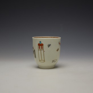Worcester Tall Table Pattern Coffee Cup c1770 (2)