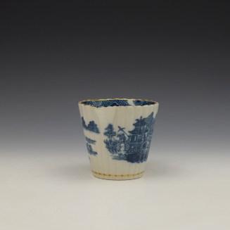 Caughley Temple Pattern Cream Jug c1782-94 (2)