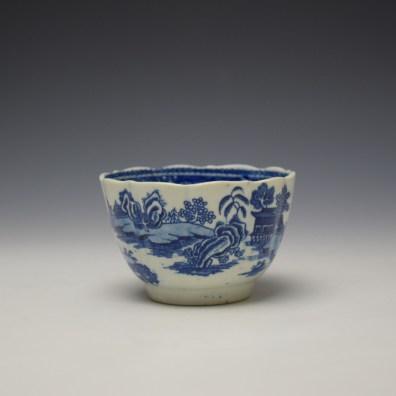 Worcester Temple Pattern Teabowl c1780-90 (4)
