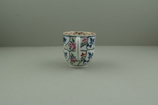 Worcester Porcelain The Floral Queens Pattern With Polychrome Flower Sprays Pattern Coffee Cup, C1770 (5)