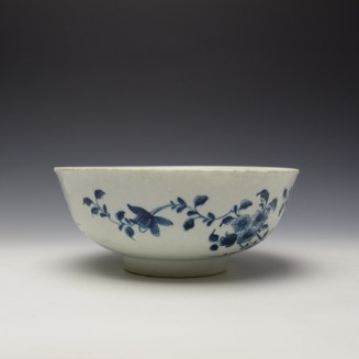 Worcester The Prunus Fence Pattern Large Bowl c1755-60 (3)